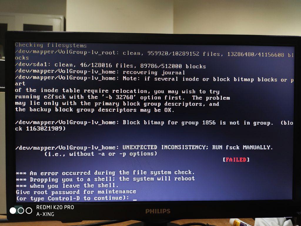 《不眠夜之Linux恢复小记》