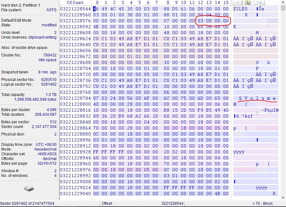《NTFS-$Volume丢失导致分区无法正常打开一例》